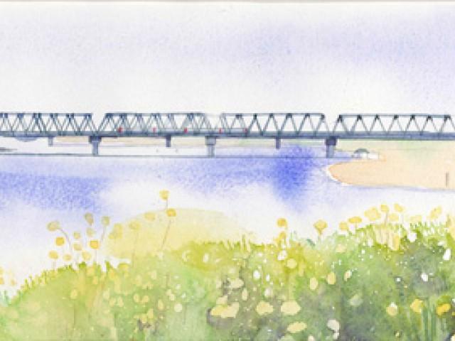 『季節の移ろいの中で』由布美穂子 透明水彩画展