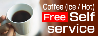 Coffee / Iced Coffee Free  Self-service